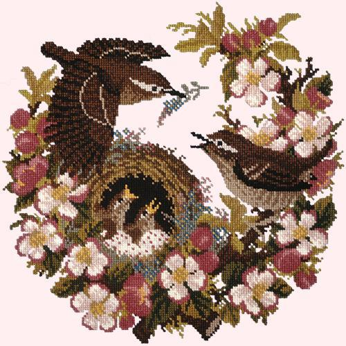 Apple Blossom Needlepoint Kit Elizabeth Bradley Design Cream