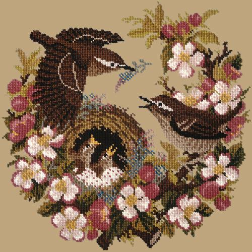 Apple Blossom Needlepoint Kit Elizabeth Bradley Design Sand