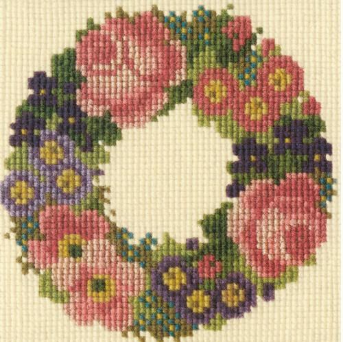 Baby Wreath Mini Kit Needlepoint Kit Elizabeth Bradley Design