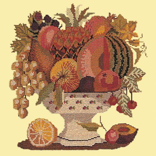 Bowl of Fruit Needlepoint Kit Elizabeth Bradley Design Butter Yellow