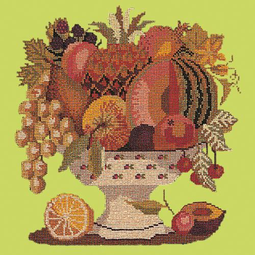 Bowl of Fruit Needlepoint Kit Elizabeth Bradley Design Pale Lime