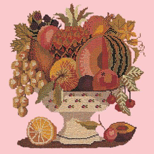 Bowl of Fruit Needlepoint Kit Elizabeth Bradley Design Pale Rose
