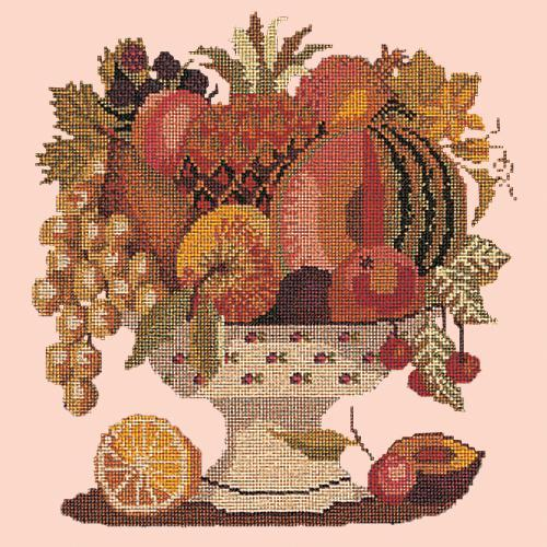 Bowl of Fruit Needlepoint Kit Elizabeth Bradley Design Salmon Pink