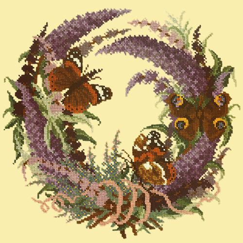 Buddleia Needlepoint Kit Elizabeth Bradley Design Butter Yellow