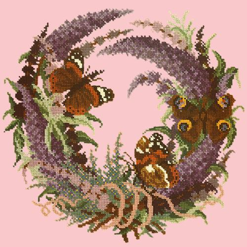 Buddleia Needlepoint Kit Elizabeth Bradley Design Pale Rose