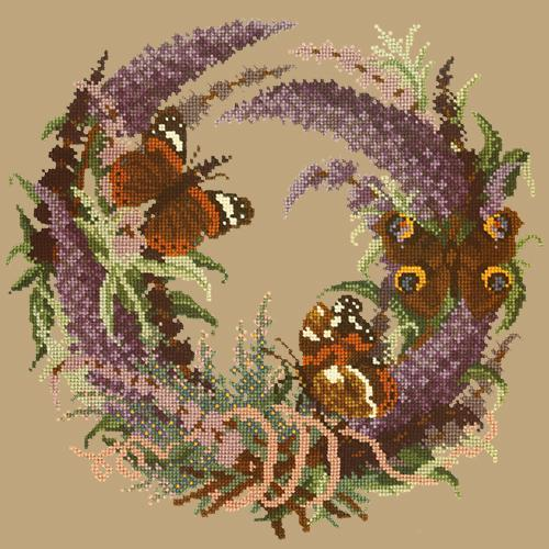 Buddleia Needlepoint Kit Elizabeth Bradley Design Sand