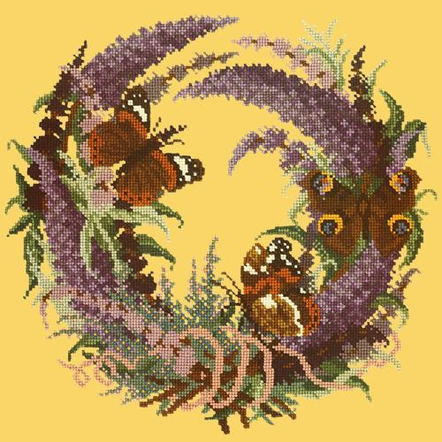 Buddleia Needlepoint Kit Elizabeth Bradley Design Sunflower Yellow