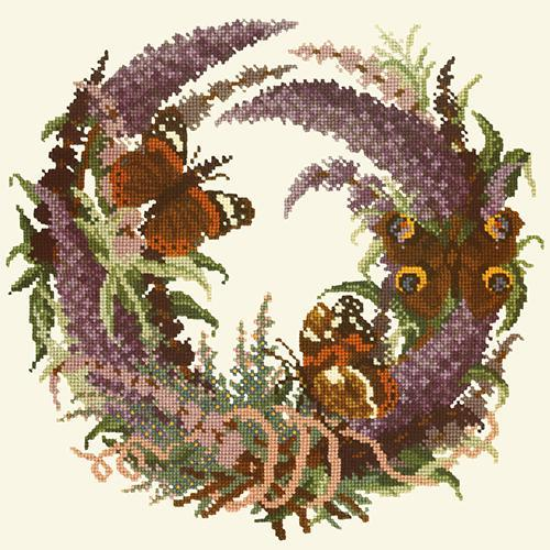 Buddleia Needlepoint Kit Elizabeth Bradley Design Winter White