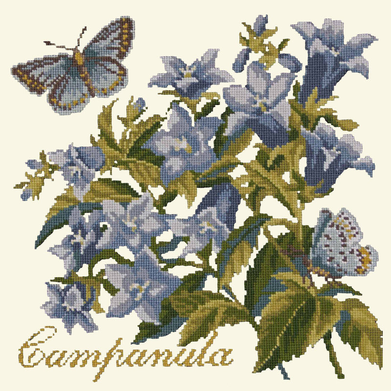 Campanula Needlepoint Kit Elizabeth Bradley Design Winter White