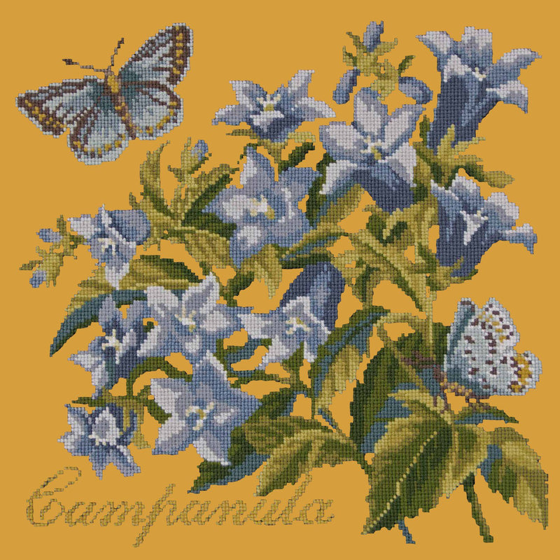 Campanula Needlepoint Kit Elizabeth Bradley Design Yellow