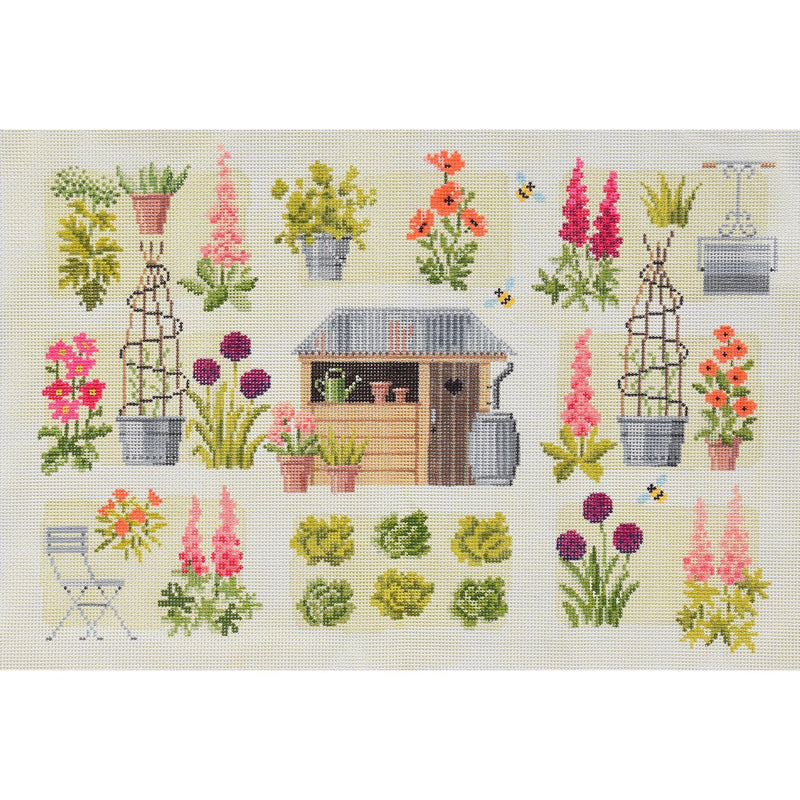 Chelsea Cutting Garden Needlepoint Kit Elizabeth Bradley Design