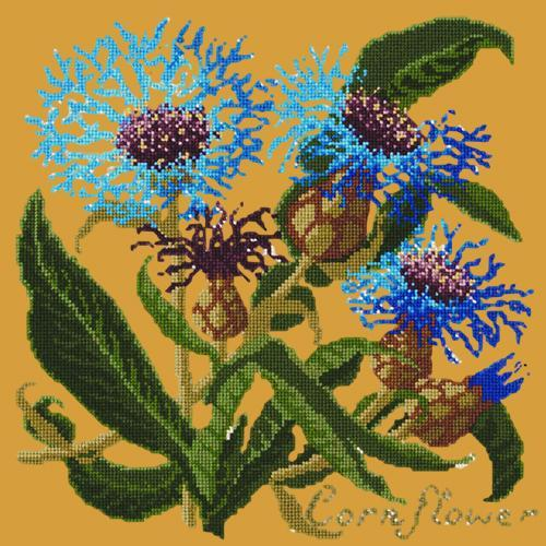 Cornflower Needlepoint Kit Elizabeth Bradley Design Yellow
