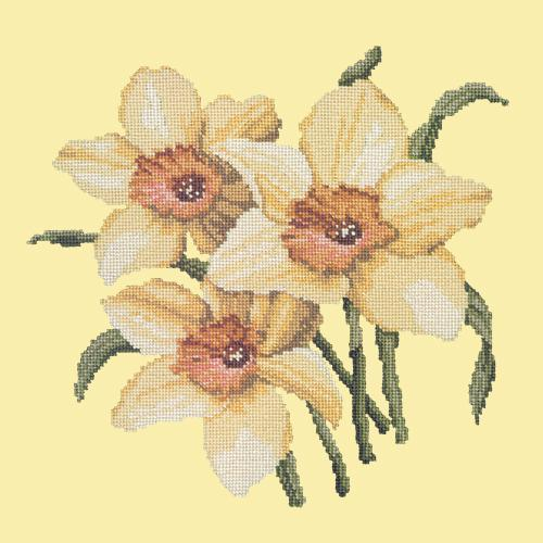 Daffodils Needlepoint Kit Elizabeth Bradley Design Butter Yellow