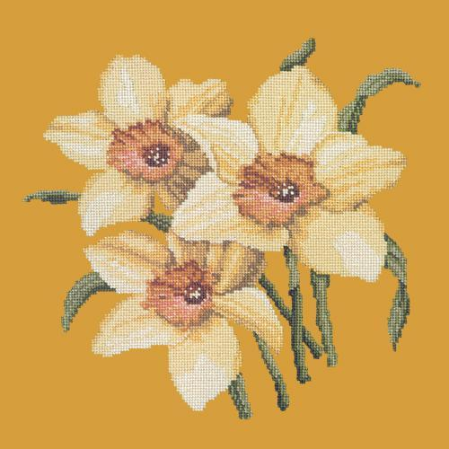 Daffodils Needlepoint Kit Elizabeth Bradley Design Yellow