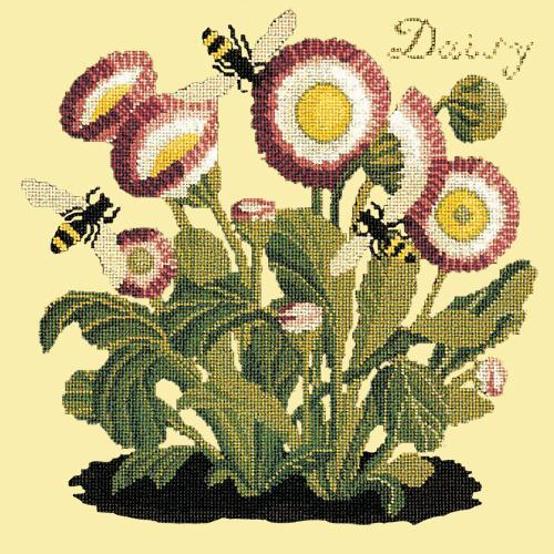 Daisy Needlepoint Kit Elizabeth Bradley Design Butter Yellow