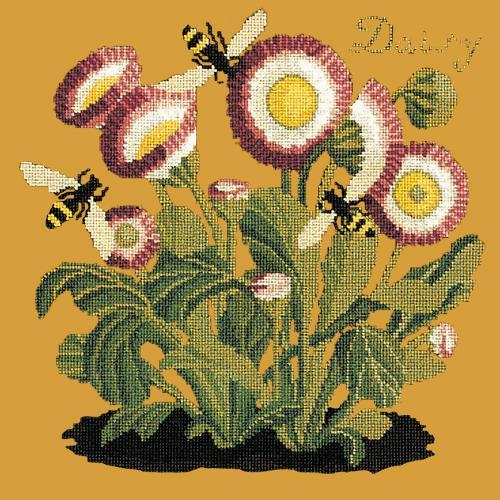 Daisy Needlepoint Kit Elizabeth Bradley Design Yellow