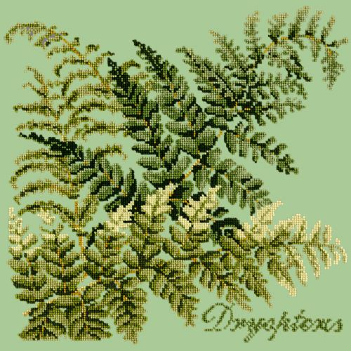 Dryopteris Needlepoint Kit Elizabeth Bradley Design Pale Green