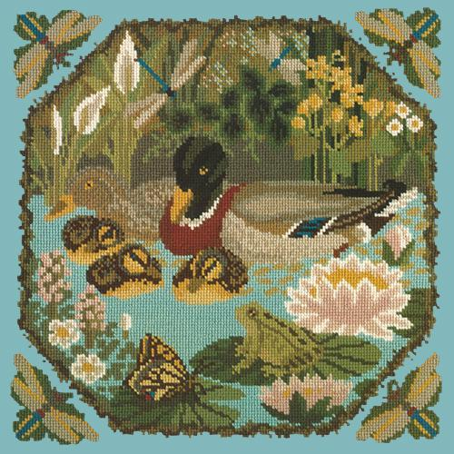 Duck Pond Needlepoint Kit Elizabeth Bradley Design Duck Egg Blue
