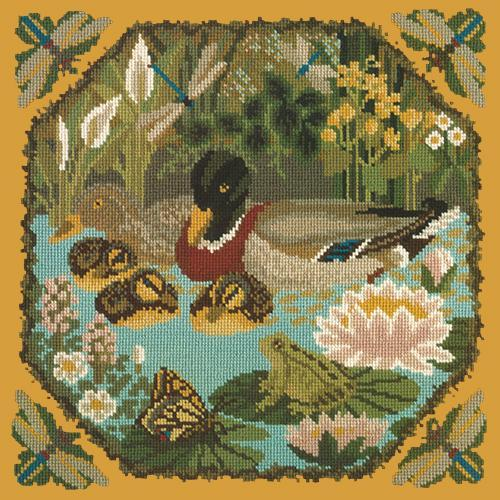 Duck Pond Needlepoint Kit Elizabeth Bradley Design Yellow