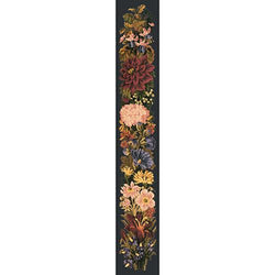 Fall Bell Pull Needlepoint Kit Elizabeth Bradley Design Black