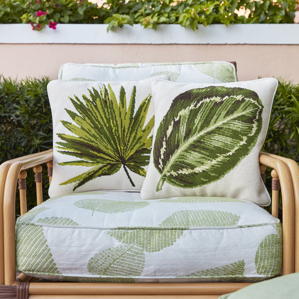 Fan Palm Leaf Needlepoint Kit Elizabeth Bradley Design