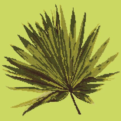 Fan Palm Leaf Needlepoint Kit Elizabeth Bradley Design Pale Lime