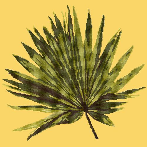 Fan Palm Leaf Needlepoint Kit Elizabeth Bradley Design Sunflower Yellow