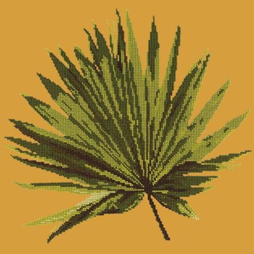 Fan Palm Leaf Needlepoint Kit Elizabeth Bradley Design Yellow
