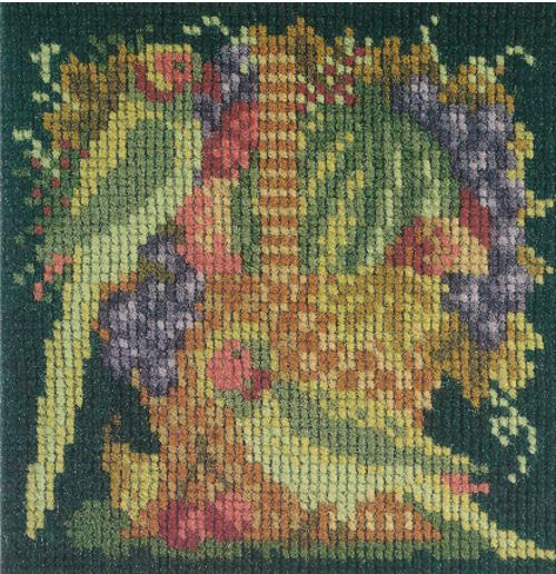 Fruit and Birds Mini Kit Needlepoint Kit Elizabeth Bradley Design