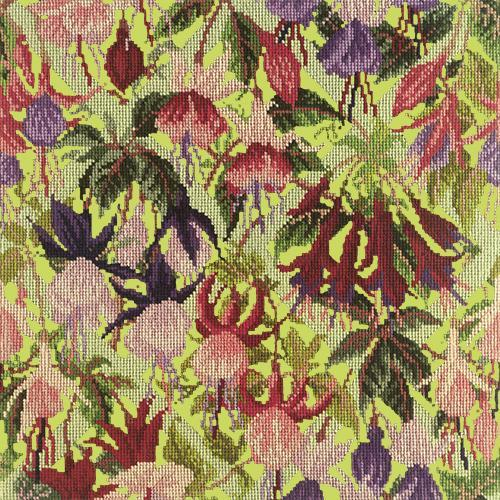 Fuchsia Trellis Needlepoint Kit Elizabeth Bradley Design Pale Lime