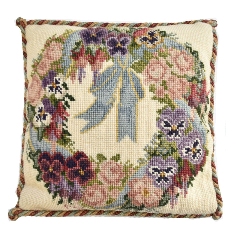 Garland of Pansies Needlepoint Kit Elizabeth Bradley Design