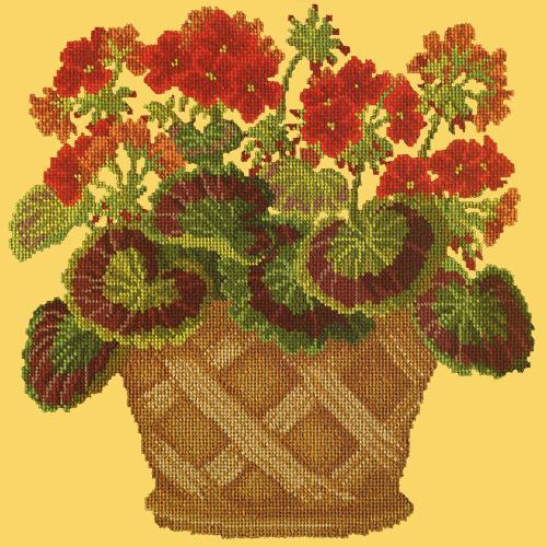 Geranium Pot Needlepoint Kit Elizabeth Bradley Design Sunflower Yellow