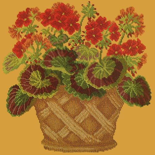 Geranium Pot Needlepoint Kit Elizabeth Bradley Design Yellow