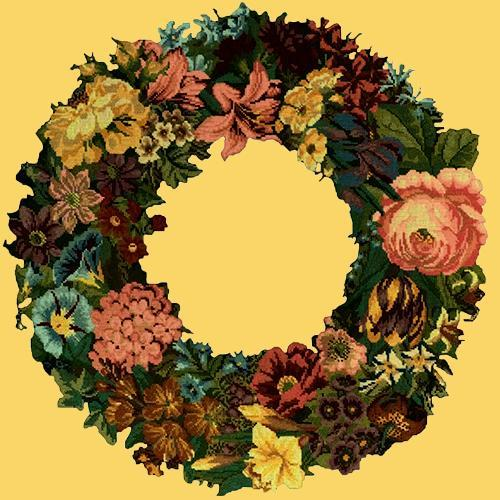 Giant Wreath Needlepoint Kit Elizabeth Bradley Design Sunflower Yellow