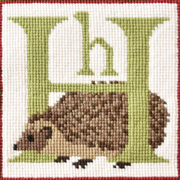 H-Hedgehog Needlepoint Kit Elizabeth Bradley Design