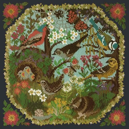 Hedgerow Needlepoint Kit Elizabeth Bradley Design Black