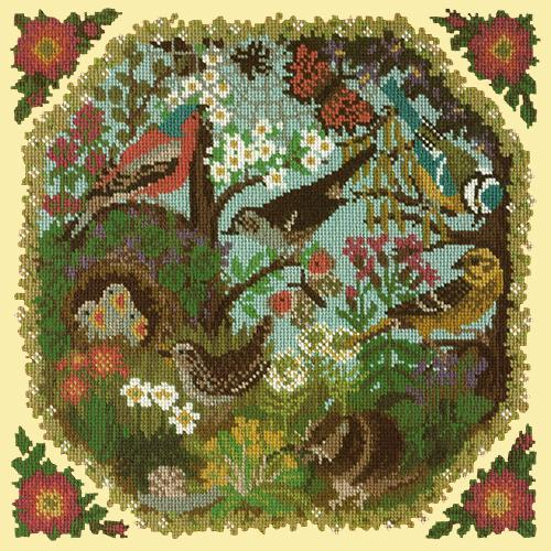Hedgerow Needlepoint Kit Elizabeth Bradley Design Butter Yellow