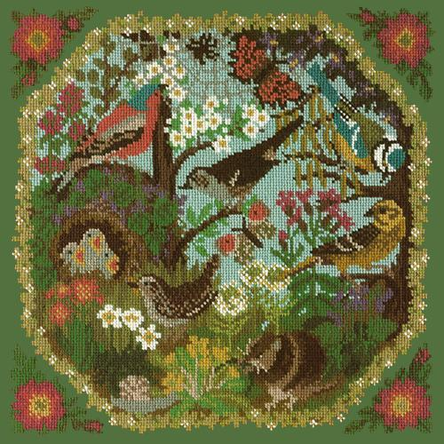 Hedgerow Needlepoint Kit Elizabeth Bradley Design Dark Green