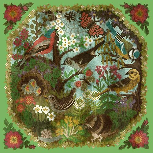 Hedgerow Needlepoint Kit Elizabeth Bradley Design Grass Green