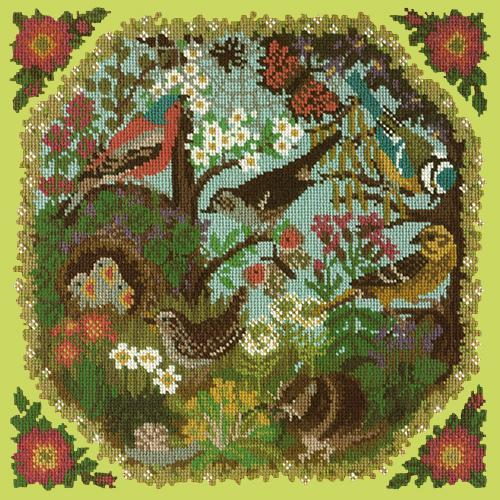 Hedgerow Needlepoint Kit Elizabeth Bradley Design Pale Lime