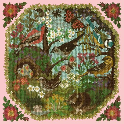 Hedgerow Needlepoint Kit Elizabeth Bradley Design Pale Rose