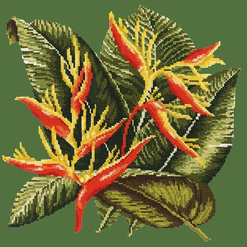 Heliconia Needlepoint Kit Elizabeth Bradley Design Dark Green