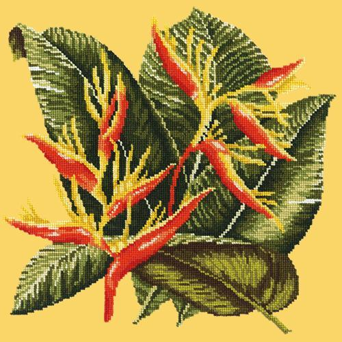 Heliconia Needlepoint Kit Elizabeth Bradley Design Sunflower Yellow