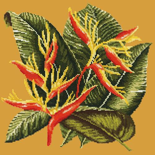 Heliconia Needlepoint Kit Elizabeth Bradley Design Yellow