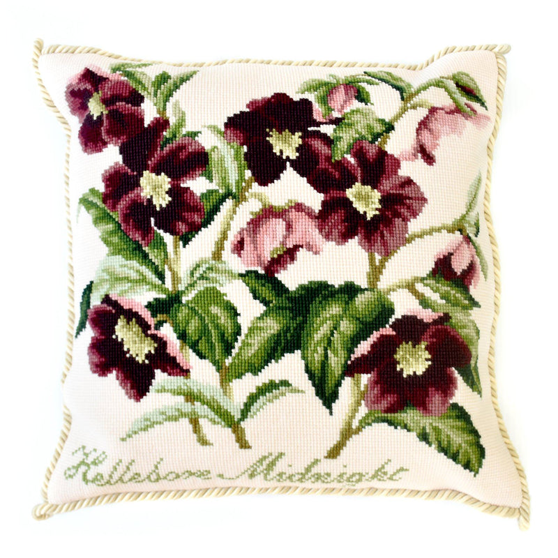 Hellebore Midnight Needlepoint Kit Elizabeth Bradley Design