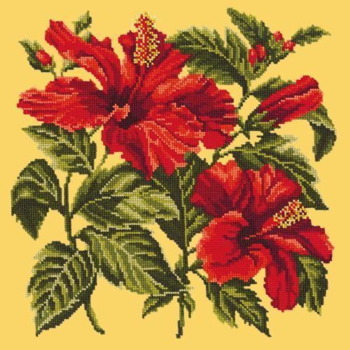 Hibiscus Needlepoint Kit Elizabeth Bradley Design Sunflower Yellow
