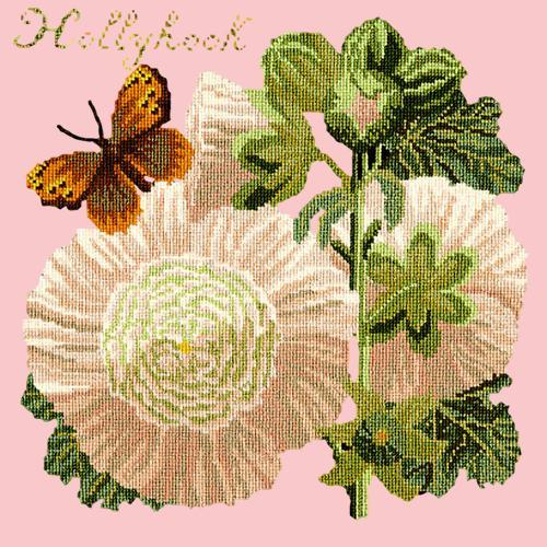 Hollyhock Needlepoint Kit Elizabeth Bradley Design Pale Rose