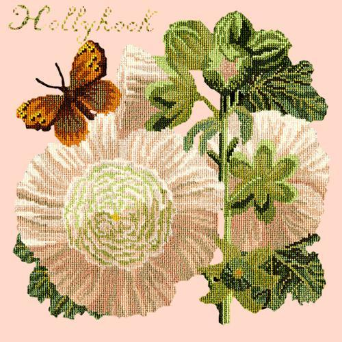 Hollyhock Needlepoint Kit Elizabeth Bradley Design Salmon Pink