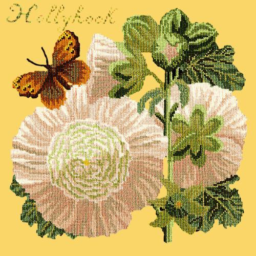 Hollyhock Needlepoint Kit Elizabeth Bradley Design Sunflower Yellow