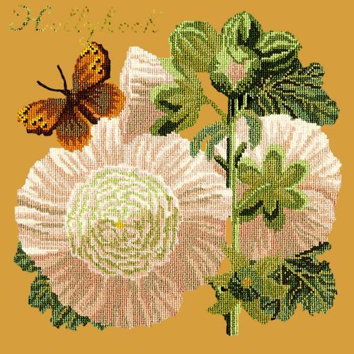 Hollyhock Needlepoint Kit Elizabeth Bradley Design Yellow